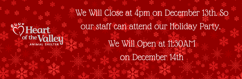 Holiday Party Closure